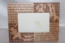 New! Neiman Marcus Noah's Ark Laser Cut Wood Picture Nursery Frame
