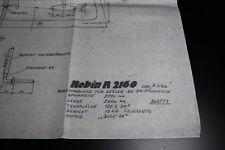 ZF1675 Aviomodelli plan maquette avion Robin R2160