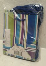 "Hallmark Small Blue Multi-Stripe  gift bags lot of 16NEW 6"" x 5"" x 3"""