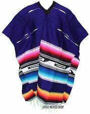 TRIBAL SERAPE Mexican PONCHO - PURPLE - ONE SIZE FITS ALL Blanket Gaban