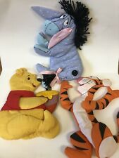 New listing Vintage Winnie The Pooh Soft 3D Fabric Wall Hangings Tigger Eeyore Set of 3