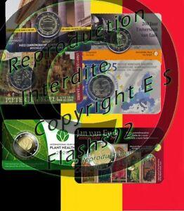 2 euros commemorative coincard Belgique 2017, 2019 et 2020
