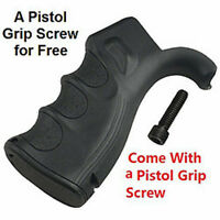 Ergonomic pistol Grip w/Finger Grooves Storage Compartment BLACK
