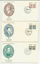 Canadian First Day Covers! Stamps on Stamps! Jour D Emission Queen Victoria etc.