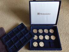 American Silver Eagle 1 oz (environ 28.35 g) .999 Argent lunaire privé avec boîte bleue Westminster