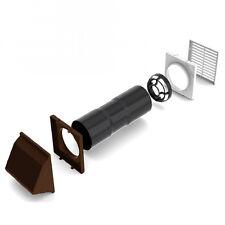 Flueless fire & wood burner brown hooded cowl wall cavity vent aero kit