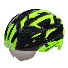 2015 RockBros Cycling Road Bike MTB Helmet Size L 57cm-62cm With Lens Green