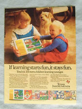 1985 Magazine Ad Page For Texas Instruments Touch & Tell Toy Advertisement