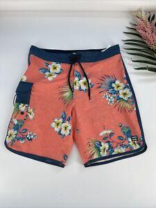 Billabong Surf Swim Board Shorts Size 30 Pink Salmon #33