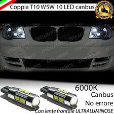 COPPIA LUCI POSIZIONE 10 LED PER BMW SERIE 1 E87 T10 W5W CANBUS 100% NO ERRORE