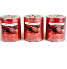 3~ Luminessence Apple Cinnamon Scented Pillar Candles, 2.5 In. X 2.8 In.