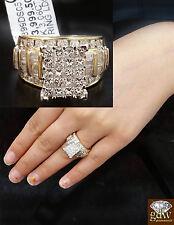 Real 10k Gold &Real 3CT Diamond Ladies Ring,Princess Cut, Wedding Anniversary N