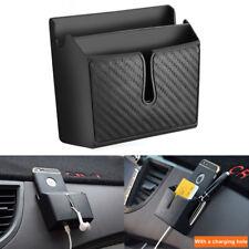 Vehicle Auto Storage Box Cellphone Holder Car Interior Accessory Organizer Black
