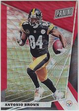 ANTONIO BROWN 2018 Panini National VIP NSCC Gold Pack Red Wave #/25 Steelers
