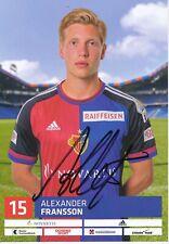 Alexander Fransson  FC Basel  2016/17 Autogrammkarte original signiert 390077
