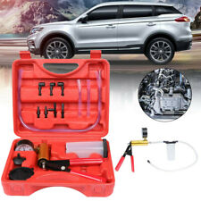 Car Hand Held Vacuum Pressure Pump Tester Kit Brake Fluid Bleeder Set w/Box