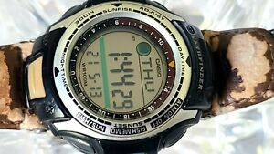 Casio Pathfinder PAS-400B Module 2632 Fishing Timer Moon Phase Chronograph
