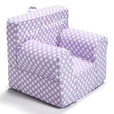 Insert For Pottery Barn Anywhere Chair + Purple Pokadot Cover Small Embroider Wh