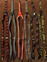 Lot Of 6 - Adjustable Clip-on Unisex Elastic Y-back Suspender. Located In USA