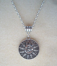 "Sun Moon Zodiac Pendant 24"" Chain Necklace in Gift Bag - Celestial Astrology"