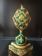 "FRANKLIN MINT FABERGE  JEWELED MUSICAL EGG ""THE GARDEN OF JEWELS"""