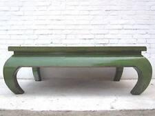 Asien niedriger Tisch Antikgrün Vintage Style Pinienholz