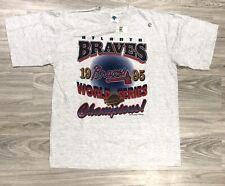 Atlanta Braves 1995 World Series Champions Dead Stock New T Shirt XL Gray