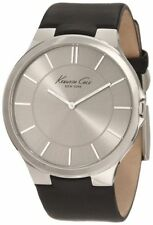 Kenneth Cole New York Men's KC1847 Stainless Steel Watch with Black Leath... New