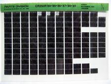Honda CR250R CR250 1984 85 86 84 88 1989 Parts List Catalog Microfiche a811