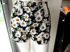 Cotton Blend High Waist Machine Washable Floral Shorts for Women