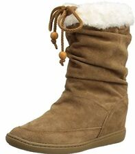 Pull On Wedge Solid Boots for Women