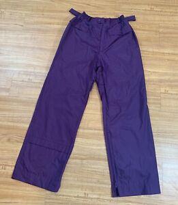 Ladies Golf Rain Wind Pants Size Large Purple Waterproof Sun Mountain Ultrex