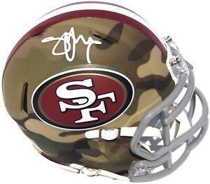 STEVE YOUNG SIGNED SAN FRANCISCO 49ERS CAMO MINI FOOTBALL HELMET PSA/DNA HOF