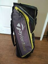 Taylormade San Clemente Golf Cart Bag 10 Dividers w Raincover Grey/Yellow