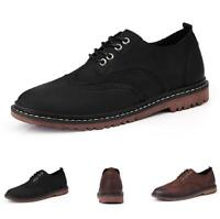 Brogue Mens Dress Formal Leather Shoes Wing Tip Pointy Toe Lace up Business LL