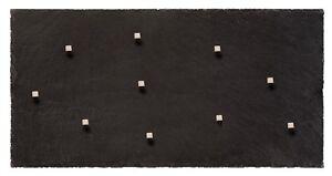 Schiefer Magnettafel (Echter Stein) in 60 cm * 30 cm Massivstein Pinnwand Kreide