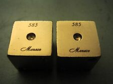 Pair Of 14k Yellow Gold Gambling Casino Dice In Dunhill Leather Case 23.3Grams