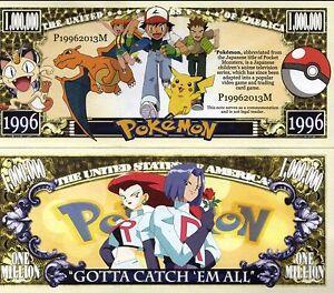Pokémon Video Game Million Dollar Novelty Money