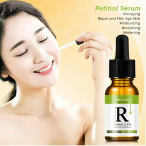 RETINOL VITAMIN E 2.5% Anti Aging Wrinkle Acne Face Facial Serum Moisturizer Oil