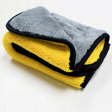 Car Care 800gsm Super Thick Plush Microfiber Car Cleaning Cloths YELLOW & GREY