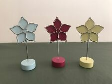 """3 Pieces Photos/Note/Memo/Card Flower Design Clip Holder Home/Office """"NEW"""""""