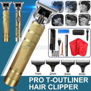 Men Pro T-Outliner Skeleton Rechargeable Cordless Trimmer Hair Clipper Cap US