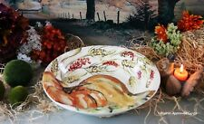 POTTERY BARN WATERCOLOR PAINTED PUMPKIN SERVING BOWL -NIB- FALL INTO STYLE!