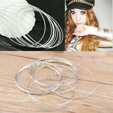 Fashion Women Girl  Metal Ultra Thin Skinny Hoop Bangle Bracelet Cuffs Wristband