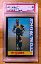 1977 Star Wars Wonder Bread #7 SEE-THREEPIO PSA 8 NM-MT!!