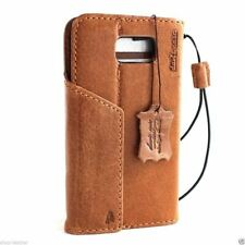 genuine leather case for samsung galaxy s6 edge plus book wallet magnet cover uk