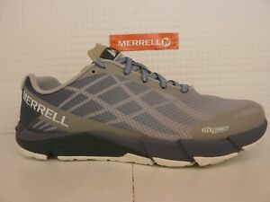 Merrell Bare Access Flex Vapor Blue Grey Ladies Lace Up Running Trainer Shoe