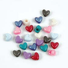 Pearl Colors Heart shaped Pony Beads 100pc made in USA Valentines Day crafts