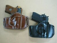 Azula Leather OWB 2 Slot Pancake Belt Holster CCW For.. Choose Color & Gun - 4