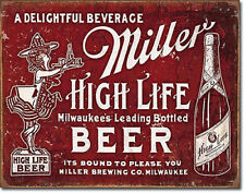 """Miller High Life Bound to Please 12.5"""" x 16"""" Tin Sign - T2075"""